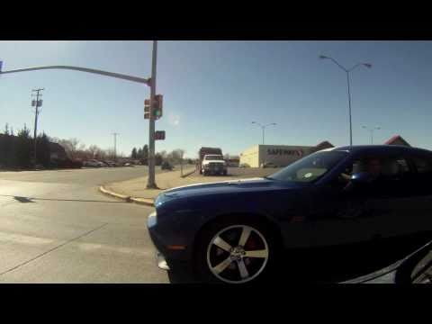 Chevrolet Camaro srt8 challenger gets rear ended