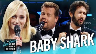 Video The Biggest 'Baby Shark' Ever w/ Sophie Turner & Josh Groban MP3, 3GP, MP4, WEBM, AVI, FLV November 2018