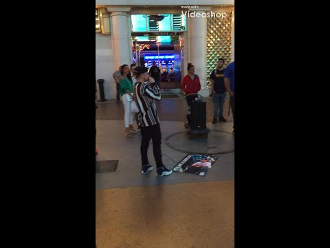 Dylan Jacob Mad Freestyle Fremont Street Rapper Las Vegas