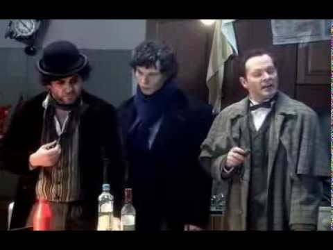 Пародия на фильмы про Шерлока Холмса (видео)
