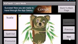 KidTeach Spell,Pronounce& Test YouTube video