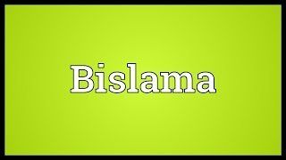 Video shows what Bislama means. A creole spoken on the South Pacific island-nation of Vanuatu, derived from Indo-European and Malay languages.. Bislama ...