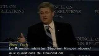 Harper At The Council On Foreign Relations