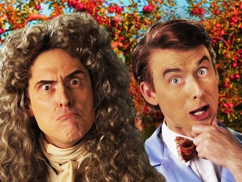 Sir Isaac Newton vs Bill Nye. Epic Rap Battles of History Season 3. (видео)