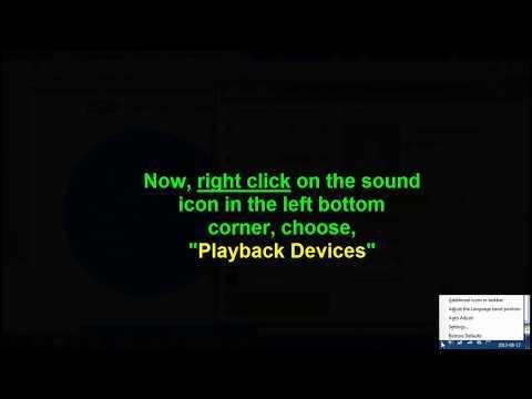 How to fix Skype Audio problem[Music through the speakers]