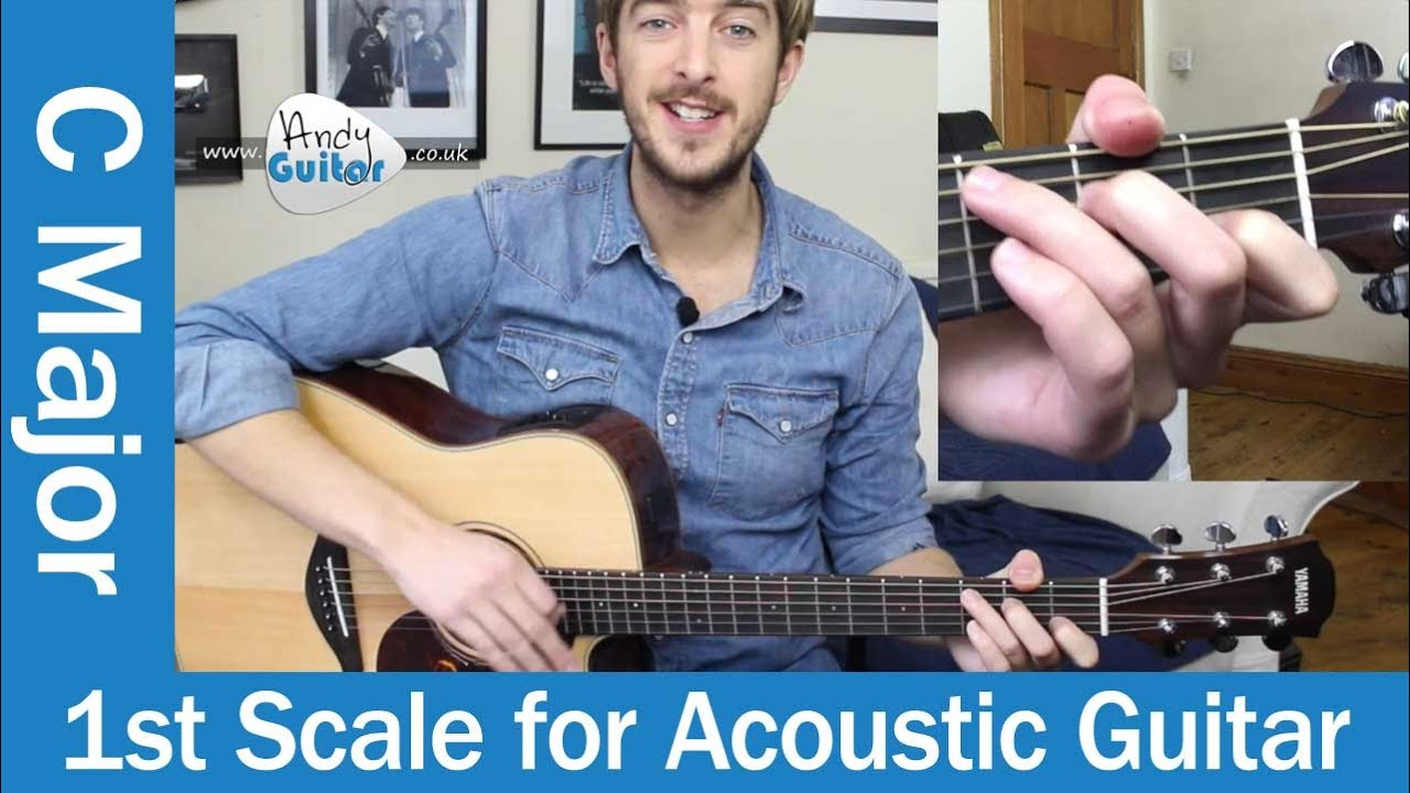 C Major Scale on Acoustic Guitar – Easy Scale For Beginners (Beginners Course Level 5 #5)