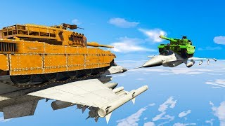 Let's go for 10000 likes! Subscribe for more videos! IMPOSSIBLE TANK BATTLE IN THE SKY! We're battling with tanks in the sky!