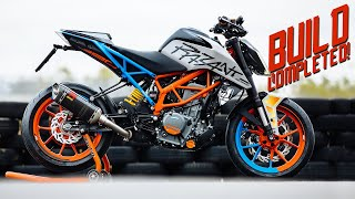 7. SICKEST STREETBIKE OF 2019  [Duke 390 street build - part 4] | RokON vlog #80