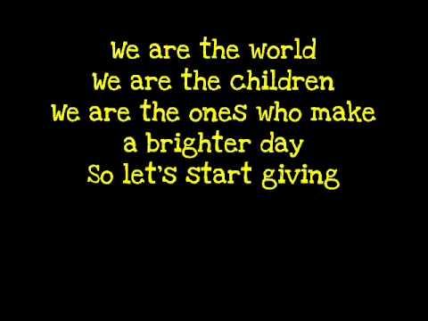 we are the world con letra