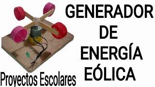 COMO HACER UN GENERADOR DE ENERGÍA EÓLICA CASERO |Proyectos Escolares|