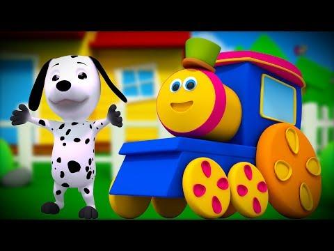 Bingo Hunde lied   bob der Zug   Hund Reim Für Kinder   Bob Train Song   Bingo Rhyme For Children