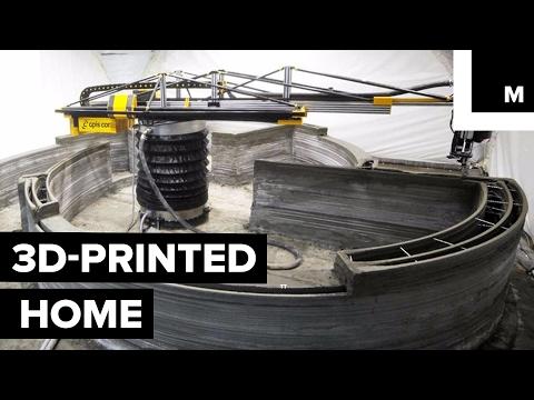 這間全世界第一棟「3D列印出來的房子」只花24小時就竣工,而且還能耐175年!(內有建造過程影片)