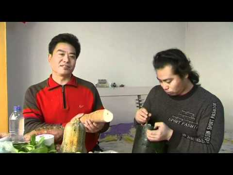 Vegetable orchestra: Chinese brothers carve extraordinary instruments from ordinary veg