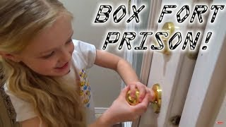 BOX FORT PRISON ESCAPE ROOM! Locked in With My Cousins!!!