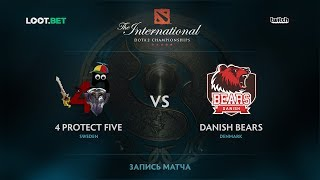 4 protect Five vs Danish Bears, The International 2017 EU Qualifier