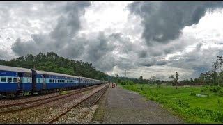 Dooars India  City new picture : Indian Railways in MONSOON : Incredible DOOARS Journey through Wildlife Sanctuaries