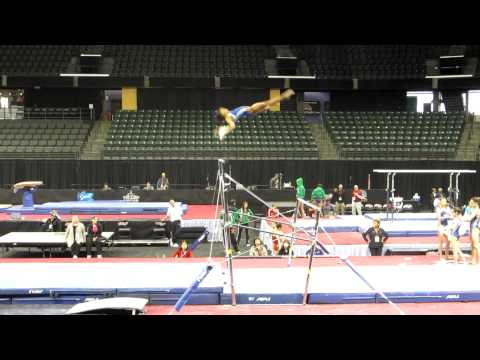 Gaby Douglas' gorgeous - and upgraded! - bar routine - 2012 Kellogg's Pacific Rim Championships Podium Training