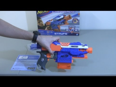 [REVIEW] Nerf Elite Stryfe - Unboxing, Review, & Firing Test