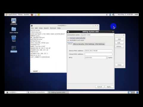 2  How To Chang Ip Address, Submet Musk, Defualt Getway, DNS1, DNS2 By Command In Linux CentOS
