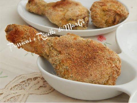 fusi di pollo aromatizzati al forno - la video ricetta