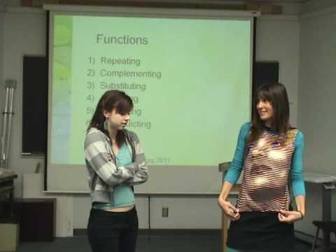 Sample Group Presentation: Nonverbal Communication - College of Marin - www.marin.edu