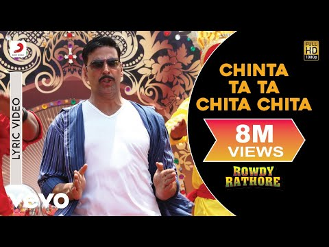 Chinta Ta Ta Chita Chita Lyric - Rowdy Rathore|Akshay,Kareena|Mika Singh|Sajid Wajid