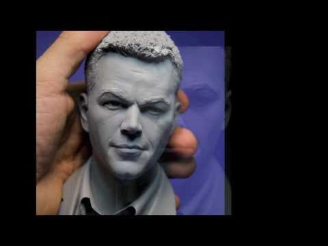 Sculpting Matt Damon