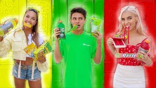 Video EATING ONLY ONE COLORED FOOD FOR 24 HOURS | Brent Rivera MP3, 3GP, MP4, WEBM, AVI, FLV September 2019
