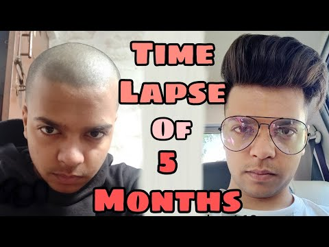 Hair growth time lapse of 5 months || hair growth from day 1 to 163