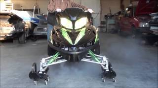 9. Arctic Cat Crossfire 7  Stock Muffler vs. Sno-Stuff Rumble Pack