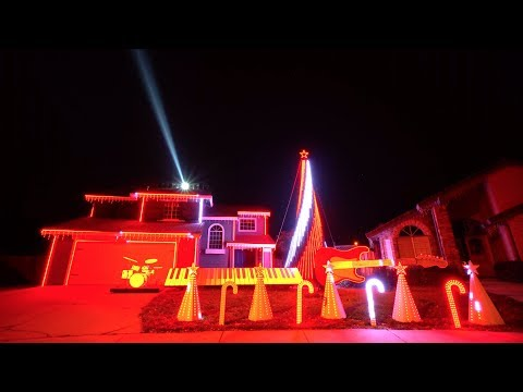 Star Wars Music Medley Christmas Light Show