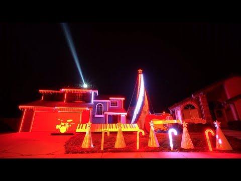 Star Wars Music Medley Christmas Light Show
