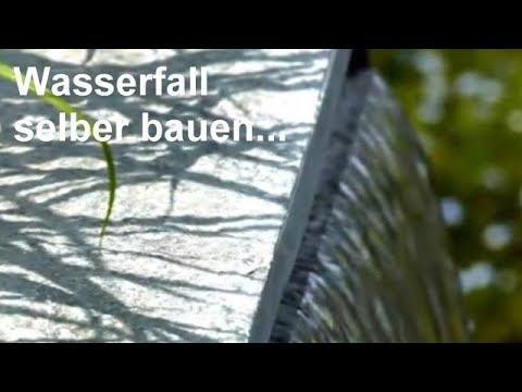 Wasserfall selber bauen – Video: Wasserfälle für Garten, Teich und Gartenteich aus Edelstahl