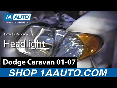 How To Install Replace Headlight Dodge Caravan Chrysler Town and Country Voyager 01-07 – 1AAuto.com