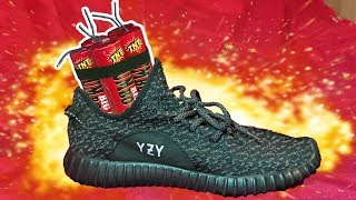 BLOWING UP MY BROTHERS YEEZY