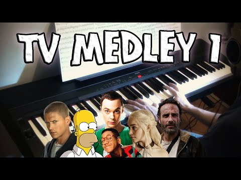 TV Themes Medley on Piano - Part 1   Rhaeide