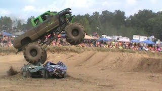 """The Big Monster Diesel  Mega Truck   """"Ridin High""""    putting on a great freestyle show at Maximum Power Park 2017"""