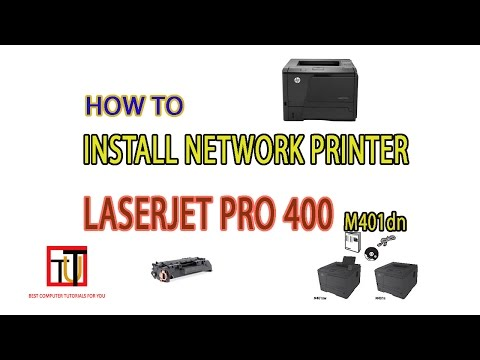 How to install network printer hp laserjet pro 400 m401dn