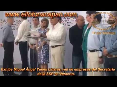 Exhibe Miguel Ángel Yunes Linares, red de empresas del Secretario de la SSP en Veracruz.