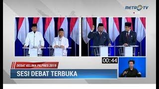 Video Debat Kelima Pilpres Part 5: Panas! Saling 'Serang' Soal BUMN, Freeport & Kekayaan Prabowo-Sandi MP3, 3GP, MP4, WEBM, AVI, FLV Juli 2019