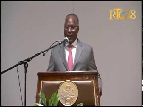 Haïti.-Cérémonie de présentation du document d'évaluation des pertes