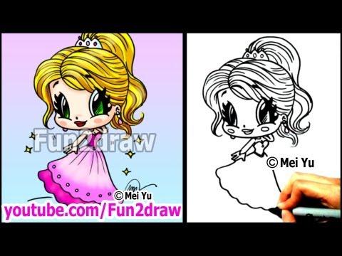 Prom Girl in Beautiful Dress  How to Draw People - Cartoon Tutorial