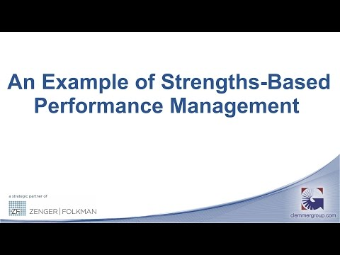 An Example of Strengths Based Performance Management