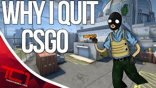 """WHY I STOPPED PLAYING CSGO. Today i talk about why i stopped playing cs:go. I dont think im done playing cs:go forever, but i definitely see myself taking a small break from the game in the meantime.Best Place to buy cheap csgo skins is   https://www.rpgah.com/, Use code""""JOB""""get a 3% discount!GIVEAWAY - https://gleam.io/LXWRt/win-awp-hyperbeast-ft★ Patreon - https://goo.gl/cZcV7R★ 2nd Channel - https://goo.gl/RyvCmn★Snacphat - TheChosen1inc★Instagram - https://goo.gl/cv1hvL★Twitch - http://goo.gl/kRBgH2★Twitter - https://goo.gl/xUmcOE★Steam Group - http://goo.gl/Radyih (Join For Updates)★Intro Song - https://goo.gl/L8qshP★Outro Song - https://goo.gl/sPD2Q1★Config - http://goo.gl/vCXbiKThechosen1inc is a cs go channel focused on talking about everything cs go. The focus is bringing you the latest cs go news and also opinions on the latest things going on in the counter strike global offensive community. Feel free to subscribe if your interested in counter strike global offensive content and the opinions of an angry man.Johnny BumbleFuck Is Always Watching ༼◕_◕༽Contact Email - Schonewise@gmail.com"""