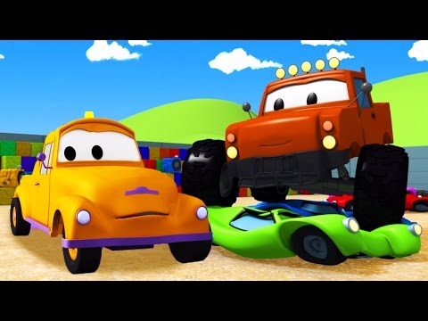 Video Tom The Tow Truck and the Monster Truck in Car City | Construction cartoon (for children) download in MP3, 3GP, MP4, WEBM, AVI, FLV January 2017