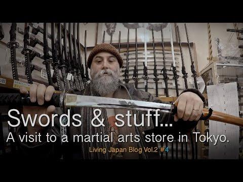 Japanese Swords, budo equipment. A visit to a Tokyo Martial Arts store
