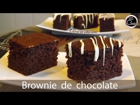 Brownie de Chocolate | Bizcocho de chocolate