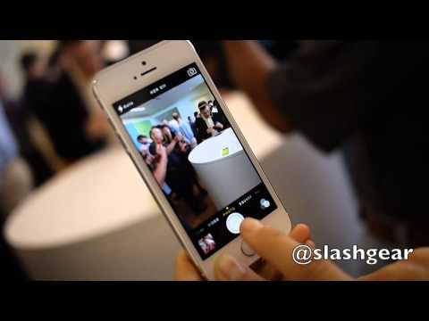 hands on - iSight camera and Touch ID biometrics on Apple's new smartphone iPhone 5s review: http://www.slashgear.com/iphone-5s-review-17298032/ http://www.slashgear.co...