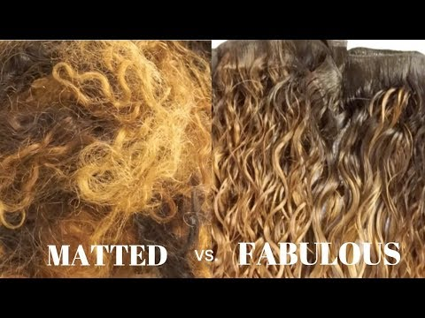 Part 1: How To Restore / Revive Your Old Matted Hair Bundles Or Extensions