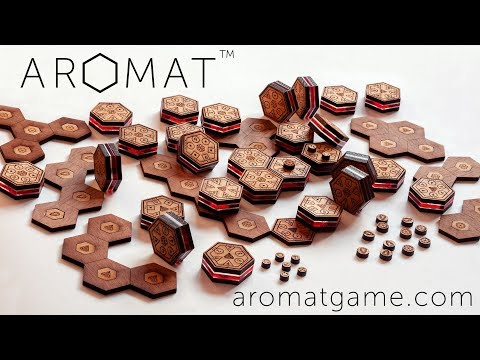 Aromat Board Game + App / A Beautiful Wooden Strategy Game